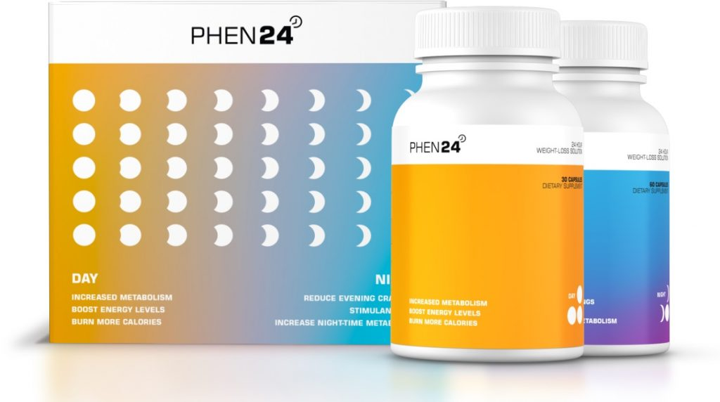 30 box of phen24 includes 30 day capsules and 60 night capsules